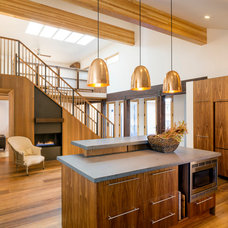 Transitional Kitchen by Shelterwerkes Architecture