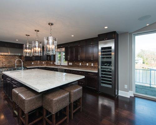 Taj mahal quartzite kitchen