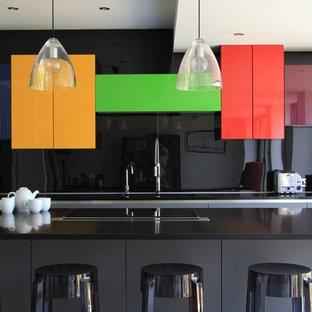 Kitchen - large contemporary kitchen idea in Sussex