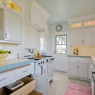 75 Beautiful Terrazzo Floor Kitchen With Tile Countertops