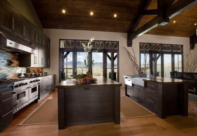 Rustic Kitchen by Phillips Development