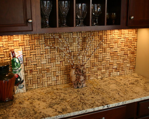 kitchen wall tiles cork wine cork backsplash home design ideas pictures remodel 6453