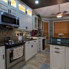 Traditional Kitchen by DeGeorge Ceilings Flooring and Custom Cabinetry