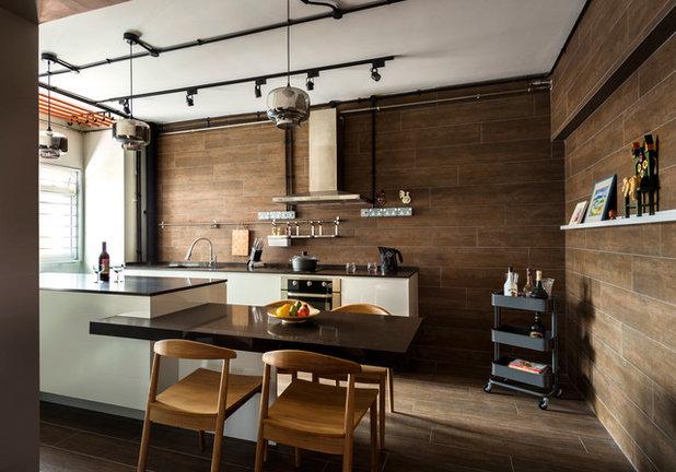 Industrial Kitchen by Third Avenue Studio