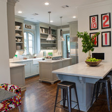 Transitional Kitchen by Sally Wheat Interiors