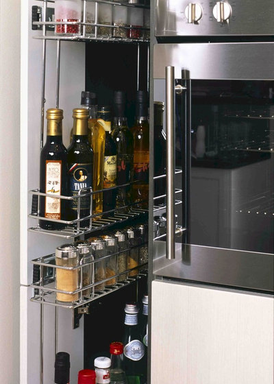 Modern Kitchen by Tansel Stainless Steel Pull Out Storage