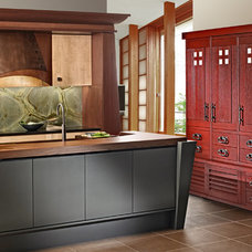 Asian Kitchen by Quality Custom Cabinetry, Inc