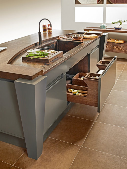 Undersink drawer home design ideas pictures remodel and for Japanese style kitchen sink