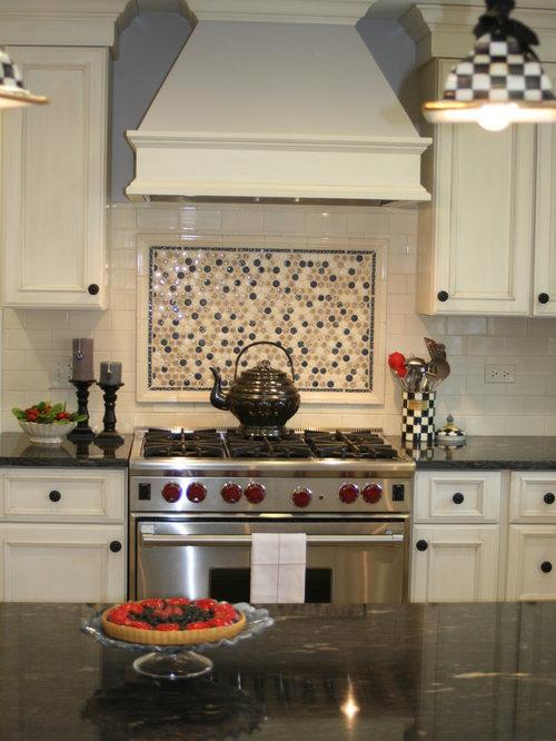 Focal point range houzz Kitchen backsplash design over stove
