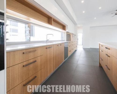 Brisbane open plan kitchen design ideas renovations for Kitchen cabinets brisbane