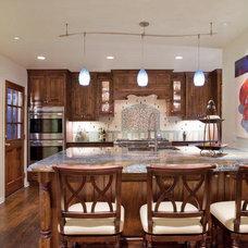 Eclectic Kitchen by Bravo Interior Design