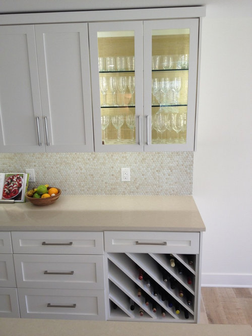 Penny round backsplash houzz - Penny tile backsplash kitchen ...