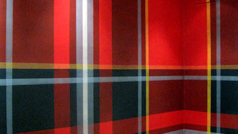 Tartan wall for an investment firm