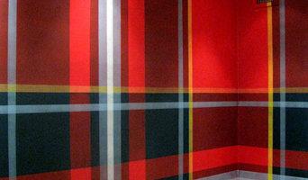 Tartan wall for an investment firm