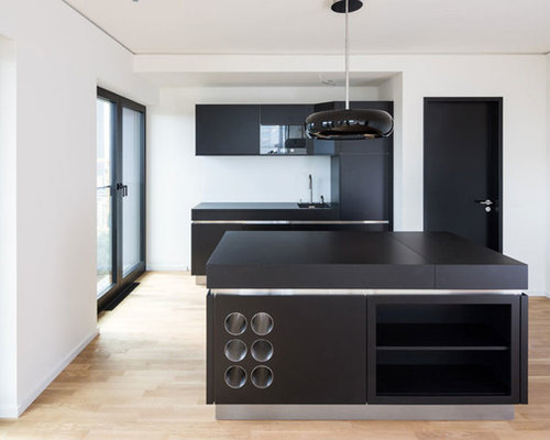 Küche schwarz weiß  Küche Schwarz Weiß - Ideen & Bilder | HOUZZ