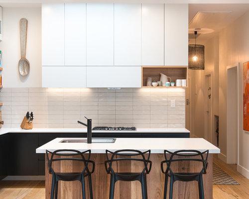 Kleine Küchen mit zwei Kücheninseln Ideen, Design & Bilder | Houzz