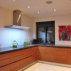 Teak Wood Kitchen Cabinets