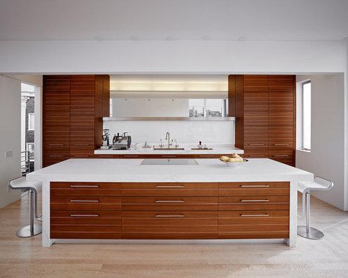 Sapele Mahogany Kitchen Cabinets