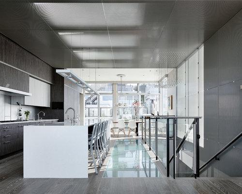 SaveEmail - Best Grey Wood Floor Kitchen Design Ideas & Remodel Pictures Houzz
