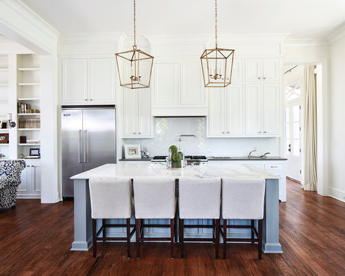 Captivating Inspiration For A Timeless Open Concept Kitchen Remodel In New Orleans With  Recessed Panel Cabinets