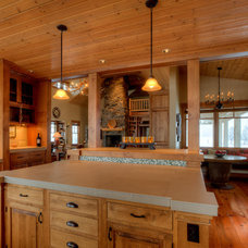 Farmhouse Kitchen by Dan Nelson, Designs Northwest Architects