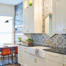 75 Most Por Farmhouse Kitchen With Cement Tile Backsplash Design