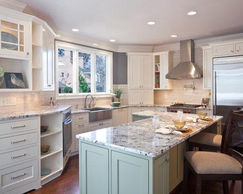 Gray And White Granite Home Design Ideas, Pictures, Remodel and Decor