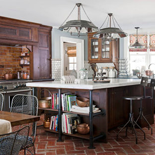 Inspiration for a farmhouse kitchen remodel in Other