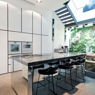 Waterfall Kitchen Island Houzz