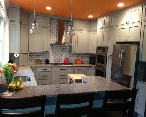 Boston Kitchen Design Ideas Renovations Photos With Terracotta Splashback