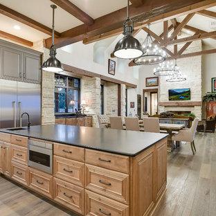 Farmhouse kitchen photo in Austin