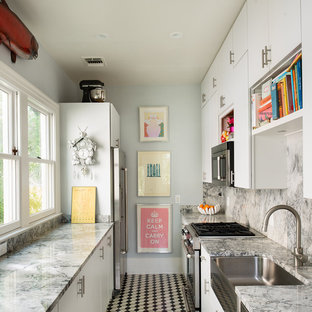 Example of an eclectic kitchen design in Austin