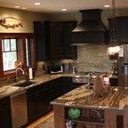 Log Cabin Kitchen - Rustic - Kitchen - Nashville - by Leland Interiors, LLC