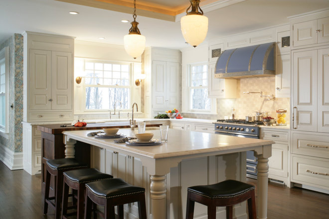 Kitchen of the week history lives in a greek revival for Greek kitchen designs