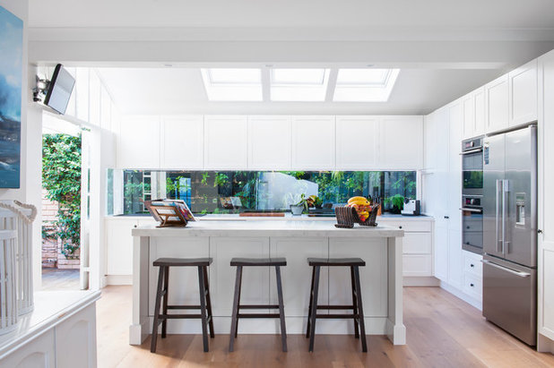 Transitional Kitchen by Liebke Projects