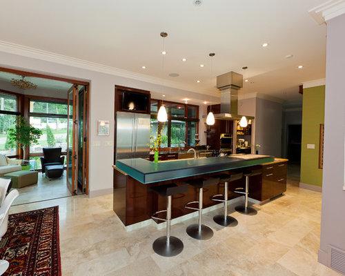 travertine floor tile design ideas remodel pictures houzz. Black Bedroom Furniture Sets. Home Design Ideas