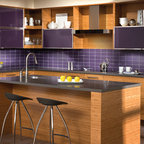 Bamboo/Paint Mix - Contemporary - Kitchen - Austin - by Bamboo Crew Custom Cabinets and Countertops