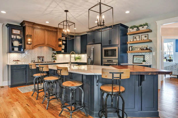 Transitional Kitchen By South River Custom Homes