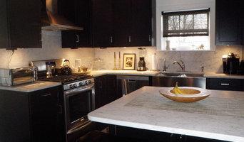 The black and white kitchen