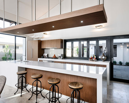 Perth kitchen island bench home design ideas renovations for Loft home designs perth