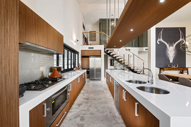contemporary kitchen by THE RURAL BUILDING COMPANY