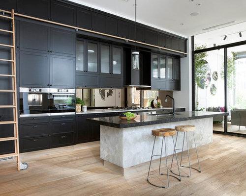 Transitional kitchen design ideas renovations photos for Australian kitchen designs 2016
