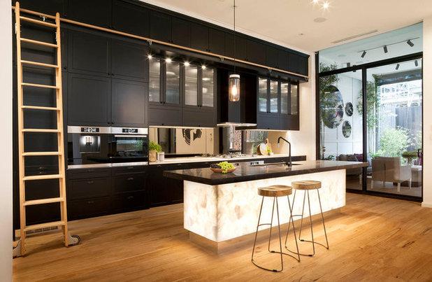 Transitional Kitchen by Caesarstone Australia