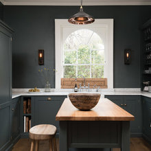 Dark Gray Sophistication in a Shaker-Style Kitchen