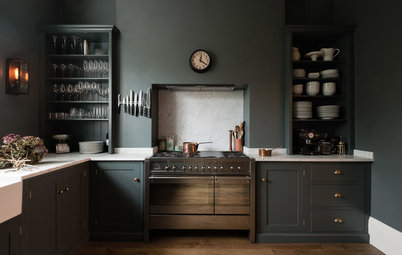 Dunkel und sinnlich: Graue Shaker-Küche in London