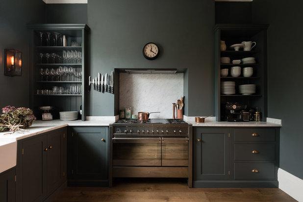 Dunkel und sinnlich: graue shaker küche in london