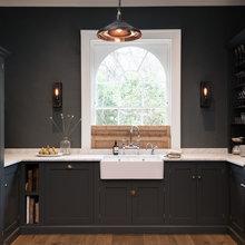 Dark grey painted kitchens