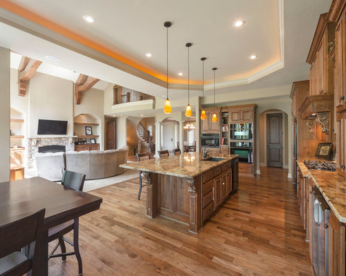inspiration for an expansive timeless galley open concept kitchen