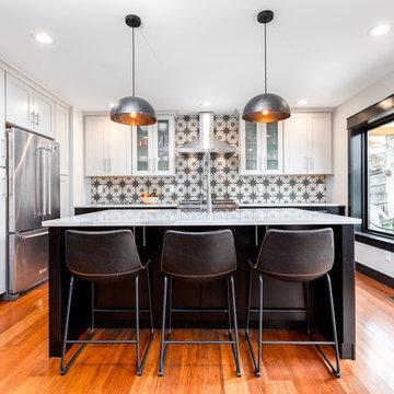The Bright Black & White Arvada Kitchen