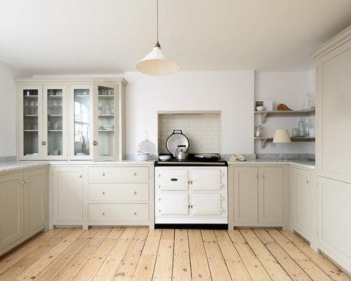 cuisine ouverte campagne avec un lectrom nager blanc photos et id es d co de cuisines ouvertes. Black Bedroom Furniture Sets. Home Design Ideas